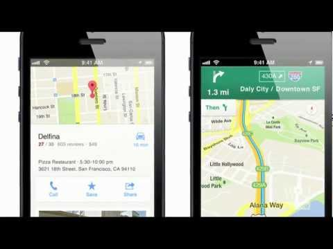 New Google Map App for Apple iPhone