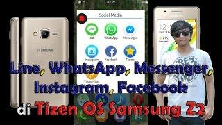 Download lagu REVIEW LINE WHATSAPP MESSENGER INSTAGRAM FACEBOOK di TIZEN OS SAMSUNG Z2 | SosMed HOT Indonesia