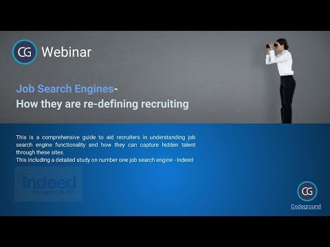 Webinar on Job Search Engines and how they are re-defining recruiting.