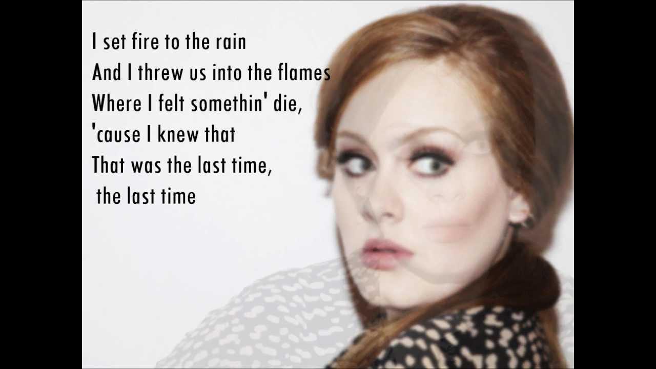 Set Fire To Rain (Acapella Version With Lyrics