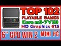 TOP 102 playable games 6'' GPD Win 2 Handheld Mini PC - 256 GB SSD 8GB RAM Intel Core m3-7Y30 HD 615