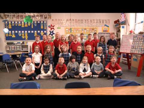 Kindergarteners from Saint Paul the Apostle School  in Davenport Sing the US Presidents' Names