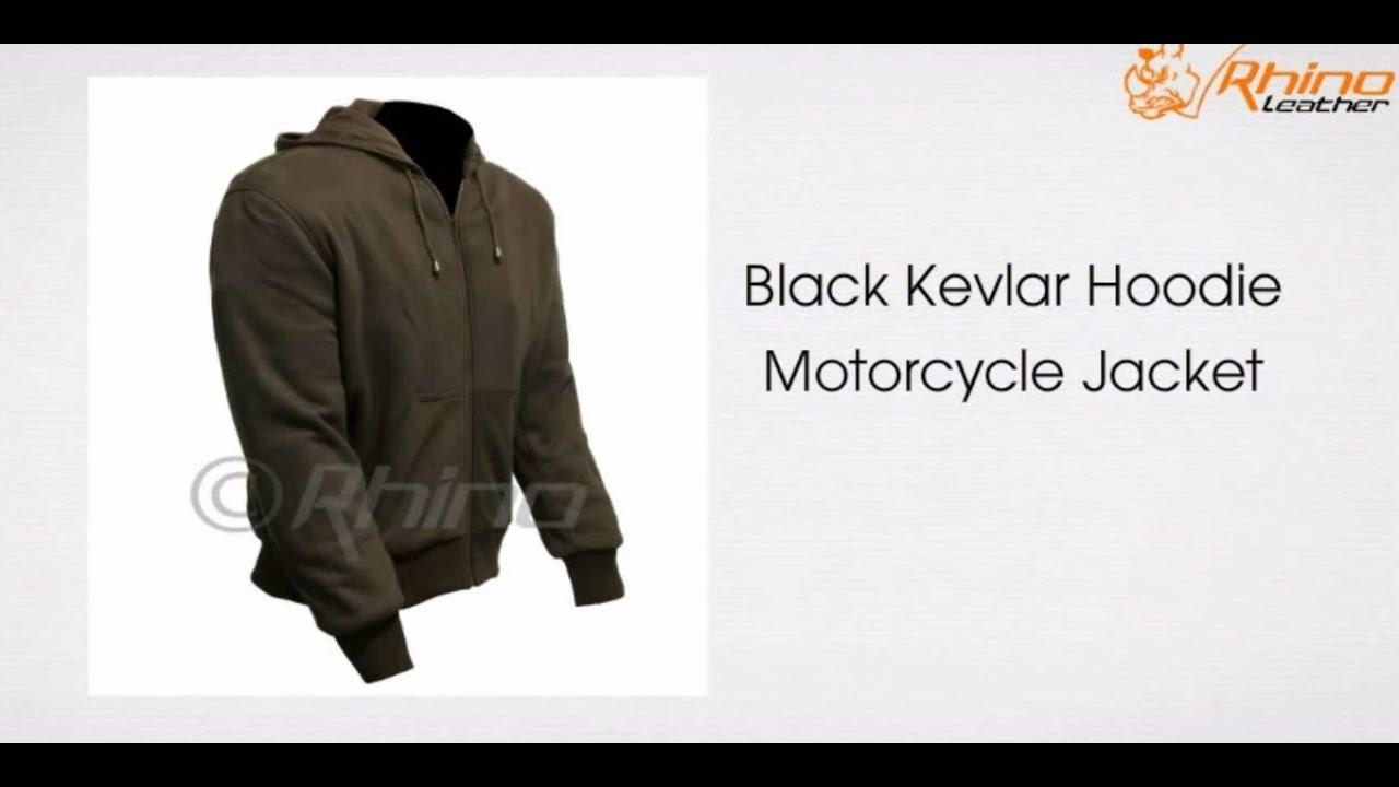 Black Kevlar Hoodie Motorcycle Jacket Youtube
