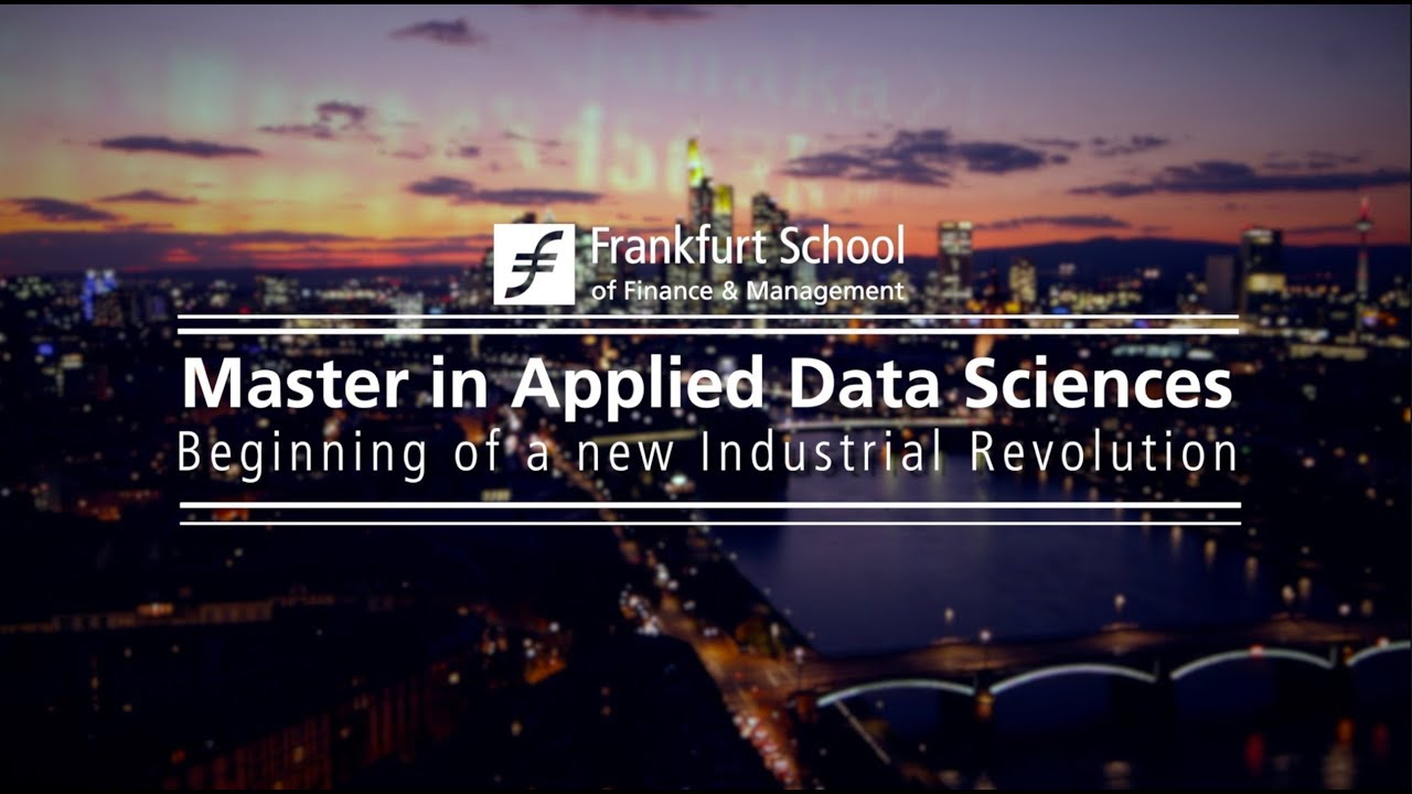 Master in Applied Data Science | Frankfurt School