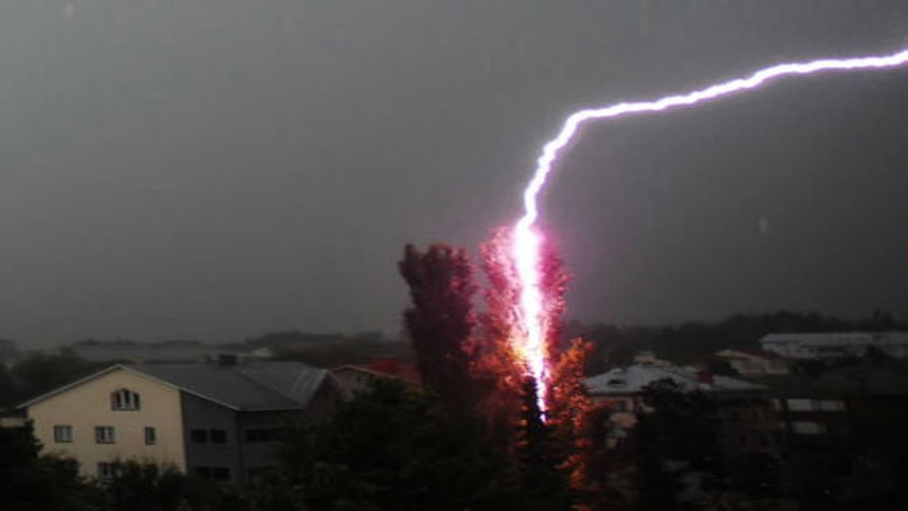 Crazy Close Lightning Strike Compilation 2016 YouTube