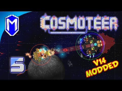 Shredding Ships With Flak Cannons, Adding More Mods - Let's Play Cosmoteer v14 Mods Gameplay Ep 5
