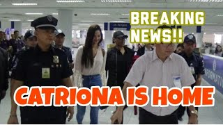 Pageant News: Catriona Gray is back home in the country!! Surprise arrival at NAIA last night!!