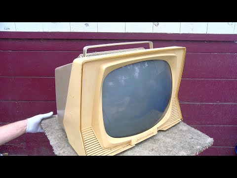 Sylvania Dualette 1960 Black and White TV Analysis For Repair Restore