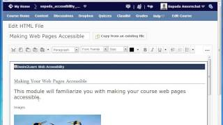 How to Make Accessible Web Content on Desire2Learn