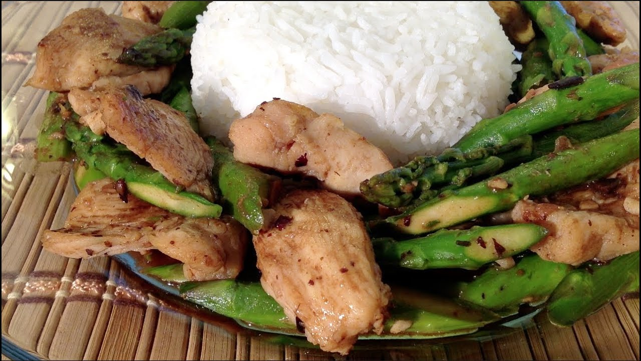 How To Make Chicken Asparagus Stir Fryasian Food Recipes