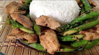 Easy Quick Recipes Stir-fry Chicken With Asparagus-how To Cook Chicken-asparagus-asian Food Recipes