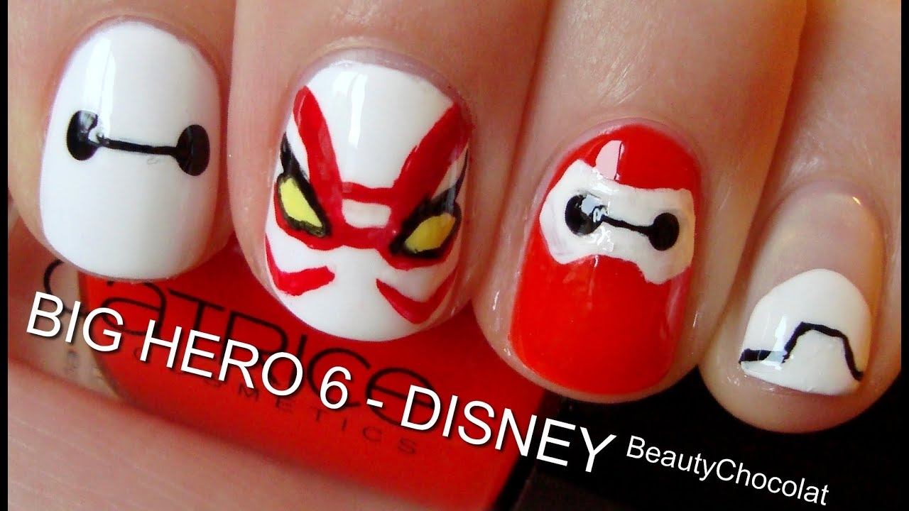 Big Hero 6 Trailer Inspired Nails Short Long Disney Nails