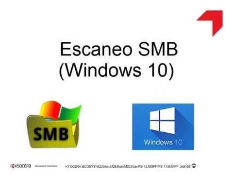 ECOSYS M2035dn/L Series - Escaneo SMB En Windows 10