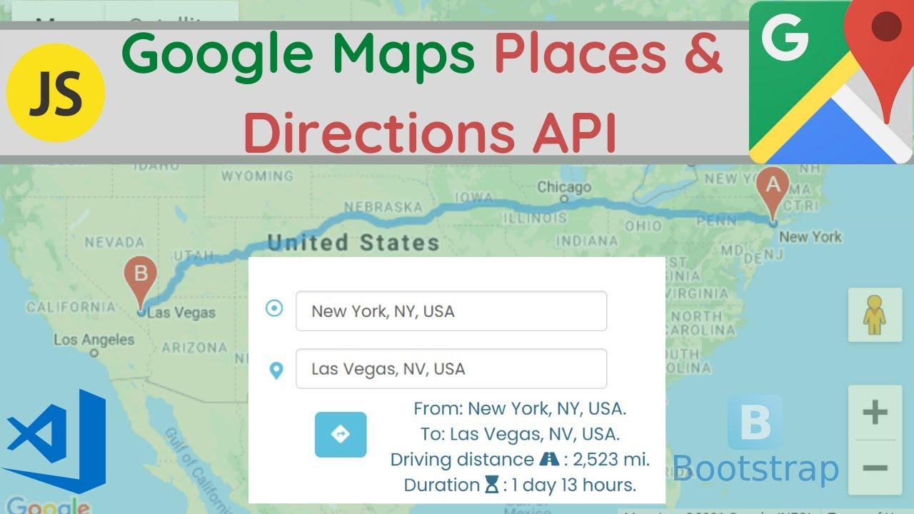 Google Map Directions API & Places API Project Javascript - [2021] | Google Map Tutorial