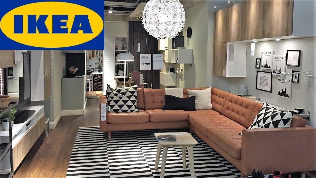 IKEA MODERN LIVING ROOM IDEAS FURNITURE SOFAS HOME DECOR SHOP WITH ME  SHOPPING STORE WALK THROUGH 4K