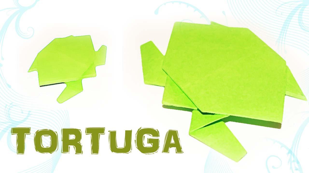 Como hacer una tortuga de papel - ANIMALES DE PAPEL - origami ...