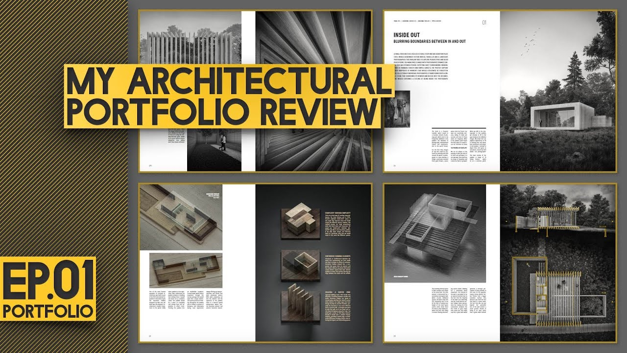 Architectural Portfolio LAYOUT Review Different TYPES of