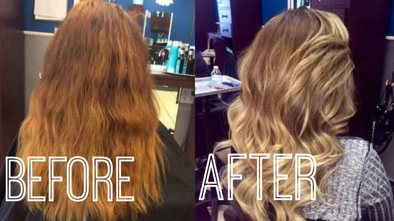 Red Blonde To Blonde Ombre Hair Update Youtube