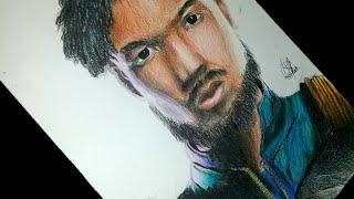 desenhando -Erik killmonger - do filme Pantera Negra
