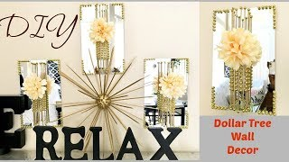 Diy Mirror Decor Quick And Easy Using Dollar Store Items.