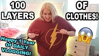 100 LAYERS OF CLOTHES CHALLENGE!!!