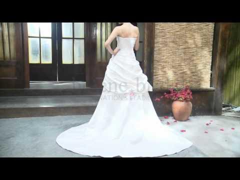 princess-strapless-sweetheart-satin-wedding-dress---style-wd6278---helenebridal.com