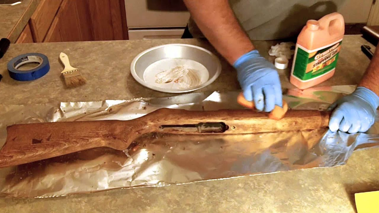 Rifle Stock Refinishing 1of 3 Stripping Ruger 10 22 Youtube