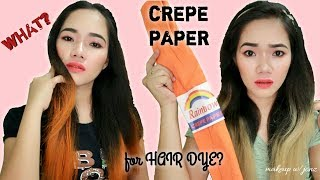 Cover images How to color hair using CREPE PAPER ! (Affordable and easy steps!) /makeup with jonz