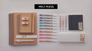 Muji Stationery Haul // October 2017