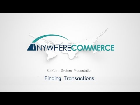 Anywhere Commerce SelfCare System - Finding Transaction