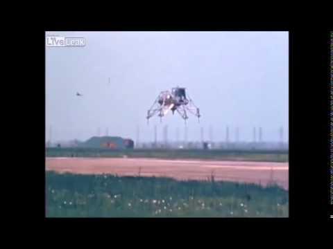 Neil Armstrong Lander Test Crash