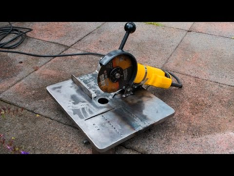 Make your own mini angle grinder stand and metal chop saw