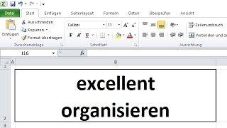 Sortieren und Filtern Teil 2 - selbstorganisierende Tabellen