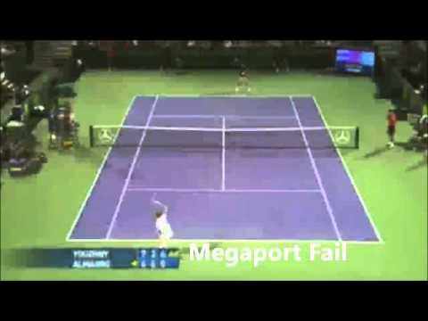 Tennis fail compilation // Megaport Fail