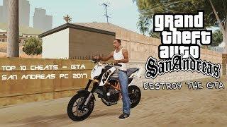 Top 10 Cheats - GTA San Andreas PC 2017