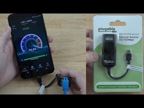 Plugable USB 2.0 OTG Micro-B to 10/100 Ethernet Adapter