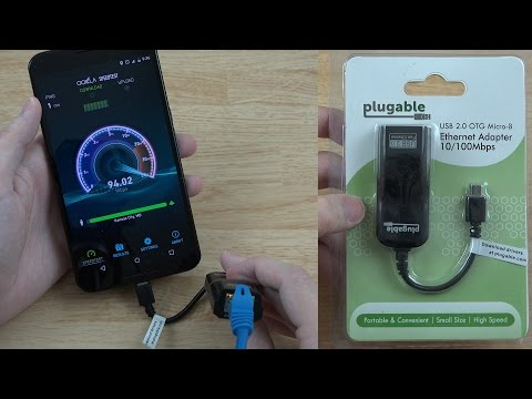 Plugable USB 2.0 OTG Micro-B to 10/100 Ethernet Adapter