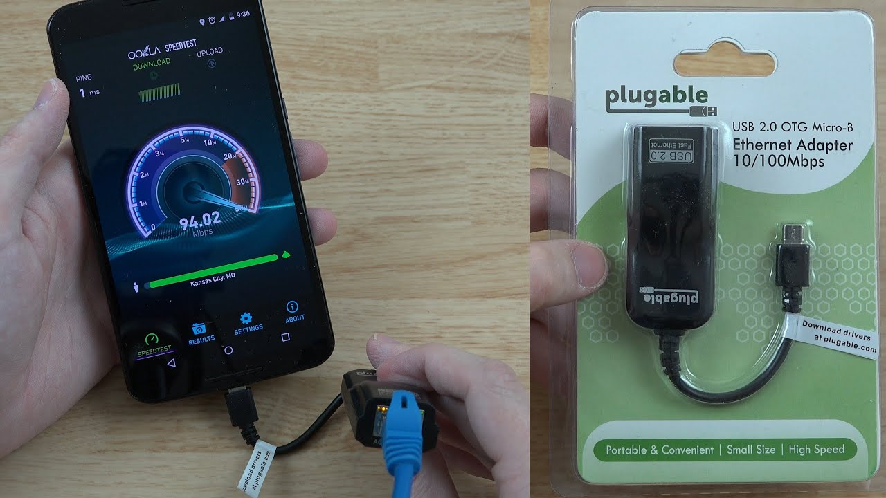Plugable Usb 2 0 Otg Micro B To 10 100 Ethernet Adapter