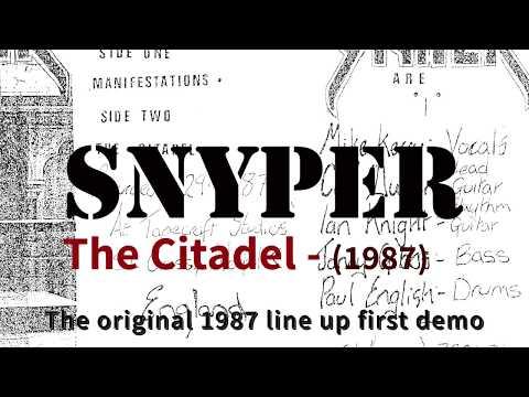 SNYPER UK Thrash Metal  Manifestations demo 1987 'The Citadel' Original line up