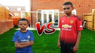 POGBA VS HAZARD! Man Utd vs Chelsea Football Challenge
