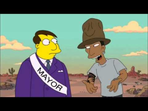 Pharrell Williams Guest Appearance In The Simpsons