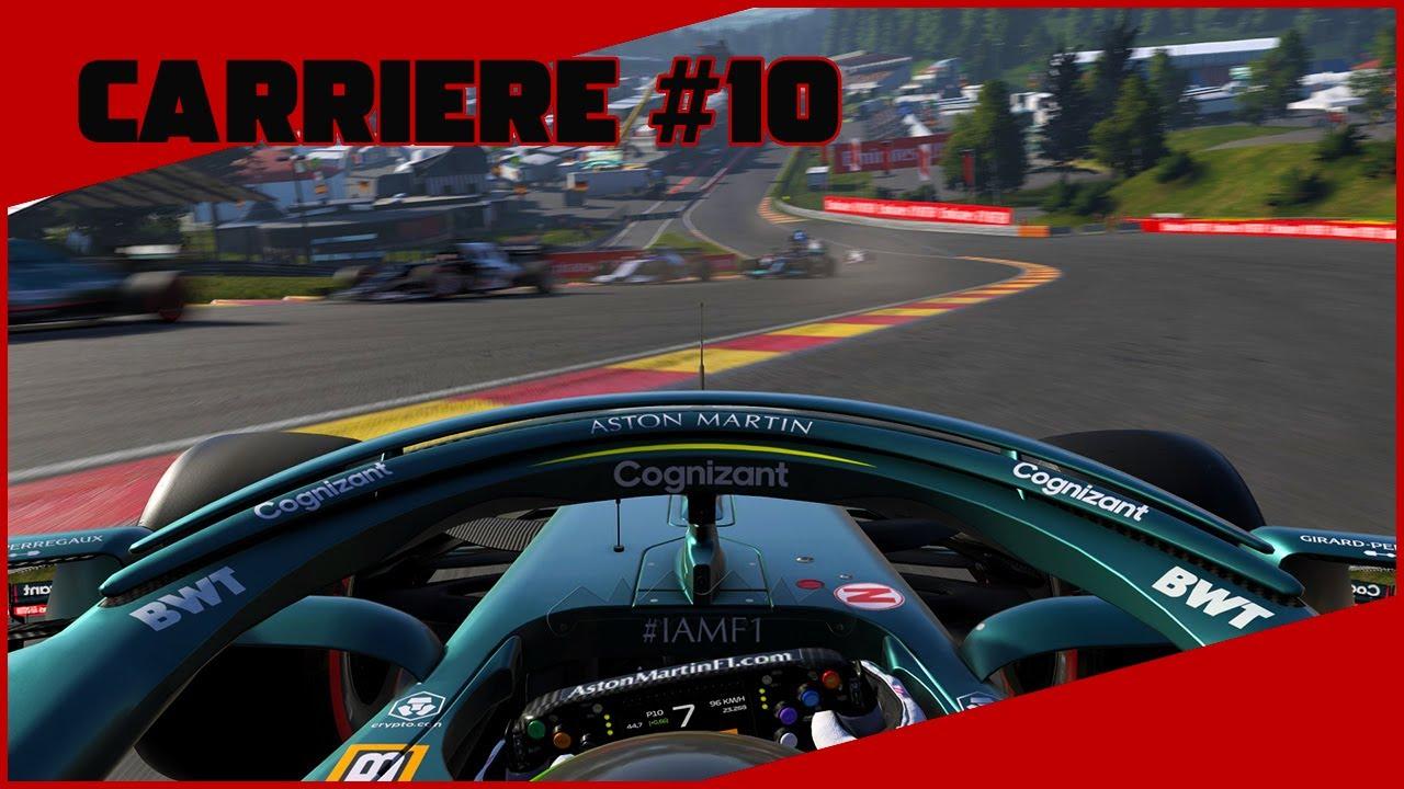 🇧🇪 F1 2021 Carrière #10   Gros crash au 1er tour ! (j'suis en marche arrière là aled)