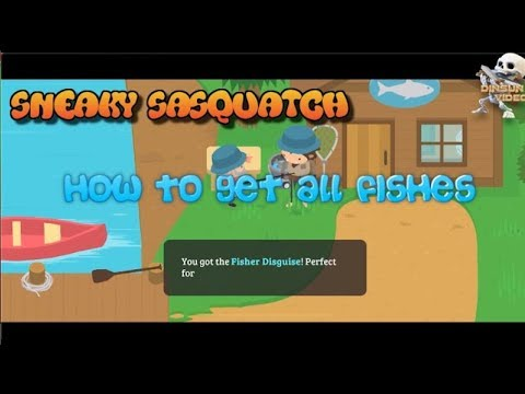 Sneaky Sasquatch - Full Fishing Guide, Show You Where To Get All Fishes (Apple Arcade)