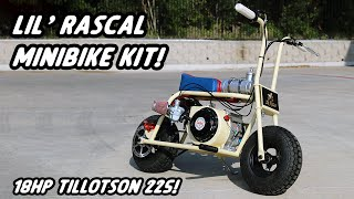 ONE DAY BUILD! 18hp Lil' Rascal Minibike Kit from Gopowersports!