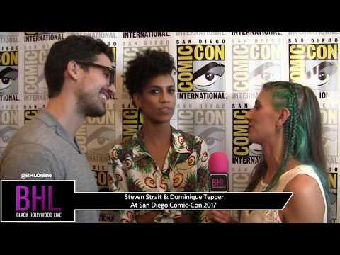 Steven Strait & Dominique Tepper The Expanse at San Diego ComicCon 2017
