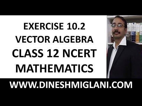 NCERT SOLUTION CLASS 12 MATHEMATICS EXERCISE 10.2 VECTOR ALGEBRA