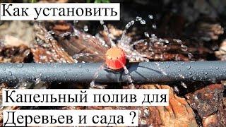 Как сделать Капельный полив для Деревьев и сада ? Монтаж капельниц для полива.(, 2015-01-08T13:43:14.000Z)