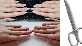 Как правильно обрезать ногти на руках. Маникюр(Как правильно обрезать ногти на руках. Маникюр В этом видео я наконец-то срезаю надоевшие длинные ногти..., 2016-07-27T05:09:48.000Z)