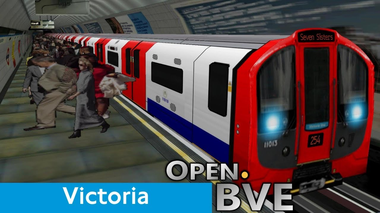 Playing Open BVE #3 - Victoria Line (2009 Stock): Walthamstow Central to  Vauxhall