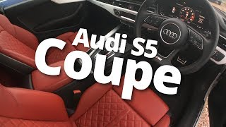 Audi S5 Coupe with Red Magma Leather Seats